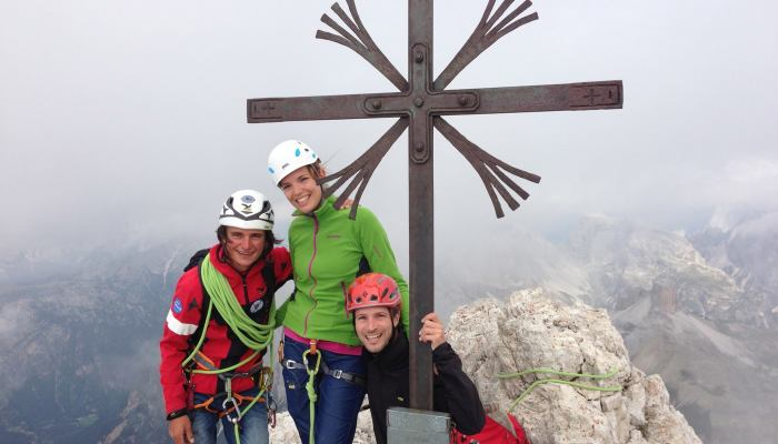 Gipfelfoto Große Zinne mit Daniela Sattler, Michael Peer und Simon Gietl