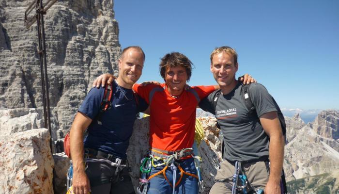 Kleine Zinne mit dem Schweizer Peter Herger und Simon Gietl